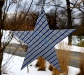 blue stripe star